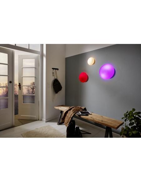 EGLO 81635 - ELLA Lámpara de pared / techo en Acero y Vidrio opalino mate