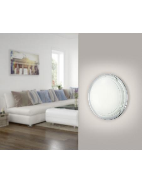 EGLO 83155 - PLANET 1 Lámpara de pared / techo en Acero y Vidrio lacado