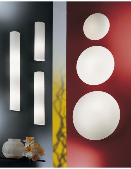 EGLO 83406 - ZOLA Lámpara de pared en Acero y Vidrio opalino mate