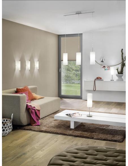 EGLO 85979 - TROY 3 Lámpara de pared en Acero y Vidrio satinado