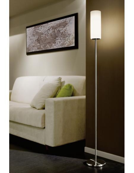 EGLO 85982 - TROY 3 Lámpara de pie en Acero y Vidrio satinado