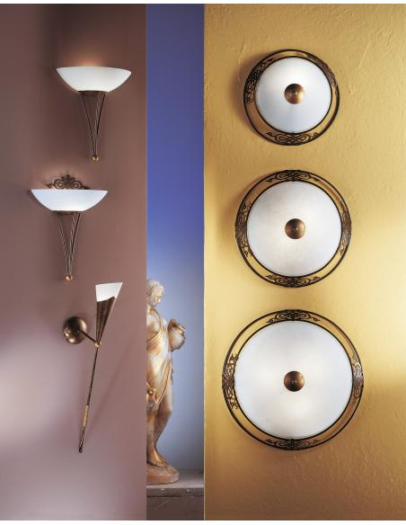 EGLO 86715 - MESTRE Lámpara de pared en Acero y Vidrio encalado