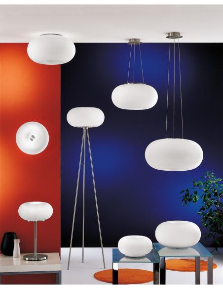 EGLO 86816 - OPTICA Lámpara de mesa en Acero y Vidrio opalino mate