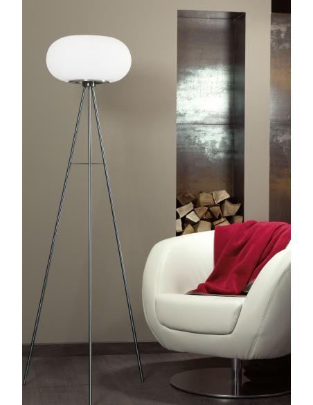EGLO 86817 - OPTICA Lámpara de pie en Acero y Vidrio opalino mate