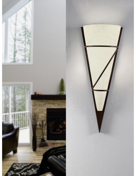 EGLO 87793 - PASCAL 1 Lámpara de pared en Acero y Vidrio encalado