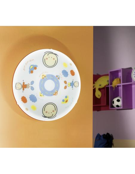 EGLO 88972 - JUNIOR 2 Lámpara de pared / techo en Acero y Vidrio satinado