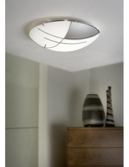 EGLO 89758 - RAYA Lámpara de pared / techo en Acero y Vidrio satinado