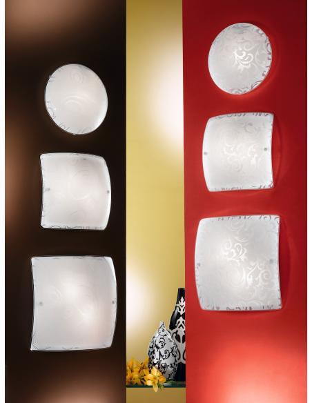 EGLO 90043 - SCALEA 1 Lámpara de pared / techo en Acero y Vidrio satinado