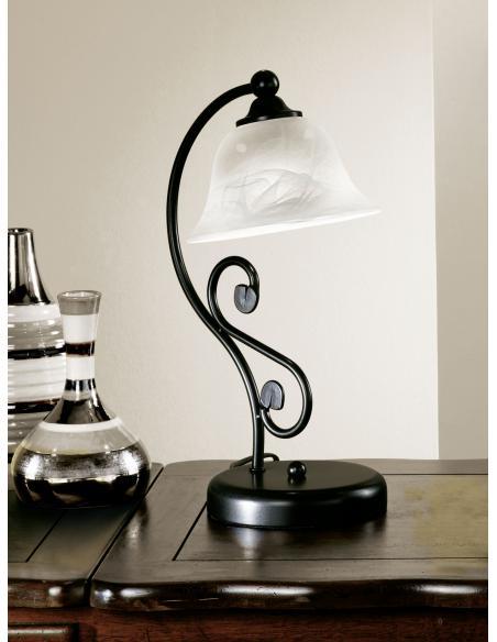EGLO 91007 - MURCIA Lámpara de mesa en Acero y Vidrio alabastro