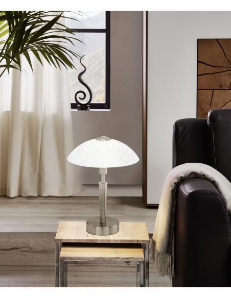 EGLO 91238 - SOLO Lámpara de mesa en Acero y Vidrio satinado