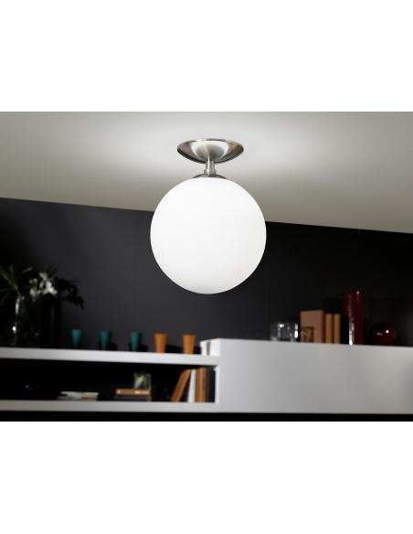 EGLO 91589 - RONDO Lámpara de techo en Acero y Vidrio opalino mate