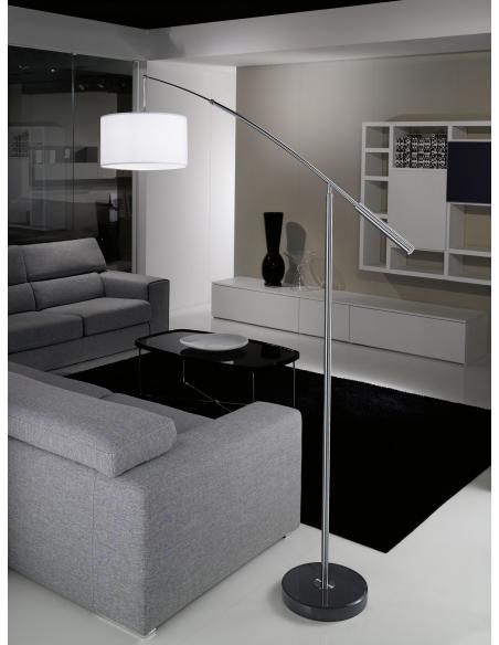 EGLO 92206 - NADINA Lámpara de pie en Acero y Textil con cierre de velcro