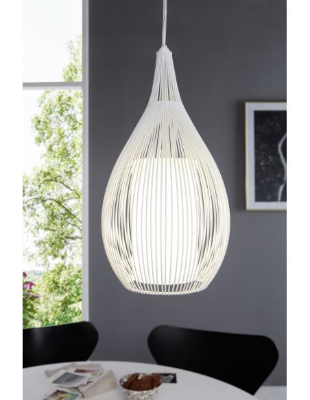 EGLO 92251 - RAZONI Lámpara colgante en Acero y Vidrio satinado, acero