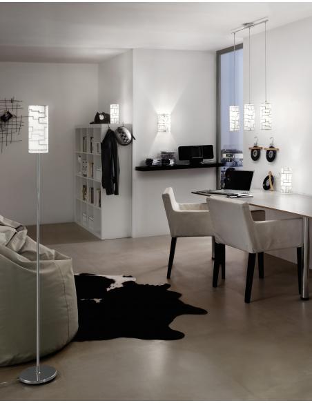 EGLO 92563 - BAYMAN Lámpara colgante en Acero y Vidrio con decoración