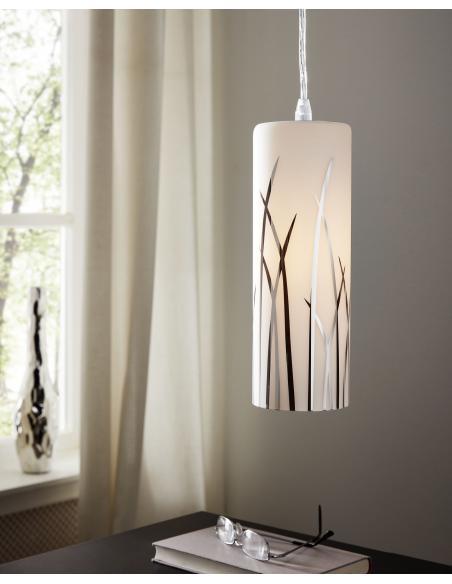 EGLO 92739 - RIVATO Lámpara colgante en Acero y Vidrio lacado