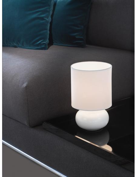 EGLO 93046 - TRONDIO Lámpara de mesa en Cerámica y Textil