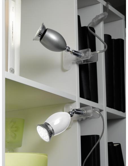 EGLO 93119 - BANNY 1 Lámpara de pinza en Acrílico, acero y Acero