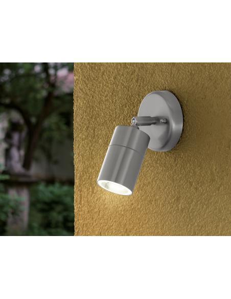 EGLO 93268 - STOCKHOLM 1 Lámpara de pared en Acero inoxidable y Vidrio