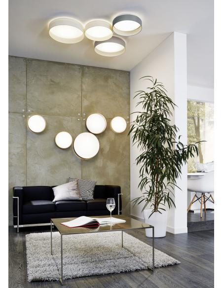 EGLO 93395 - PALOMARO Lámpara de techo en Acrílico y Textil