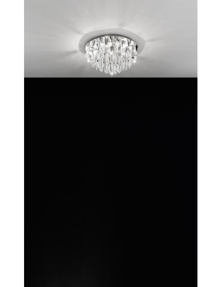 EGLO 93413 - CALAONDA Lámpara de techo en Acero inoxidable y Cristal