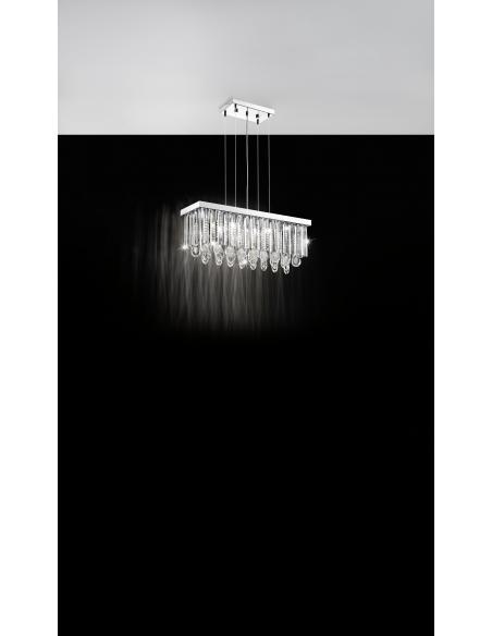 EGLO 93422 - CALAONDA Lámpara colgante en Acero inoxidable y Cristal