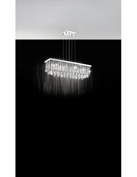 EGLO 93423 - CALAONDA Lámpara colgante en Acero inoxidable y Cristal