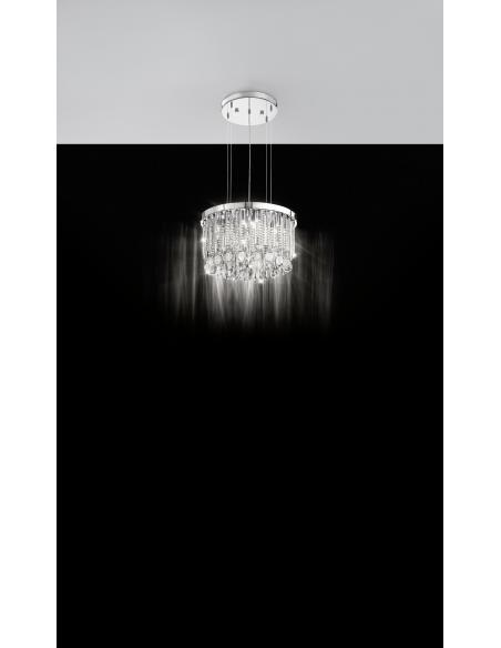 EGLO 93425 - CALAONDA Lámpara colgante en Acero inoxidable y Cristal