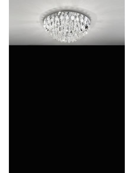 EGLO 93434 - CALAONDA Lámpara de techo en Acero inoxidable y Cristal