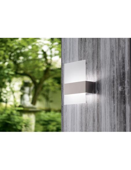 EGLO 93438 - NADELA Lámpara de pared en Acero inoxidable y Vidrio satinado