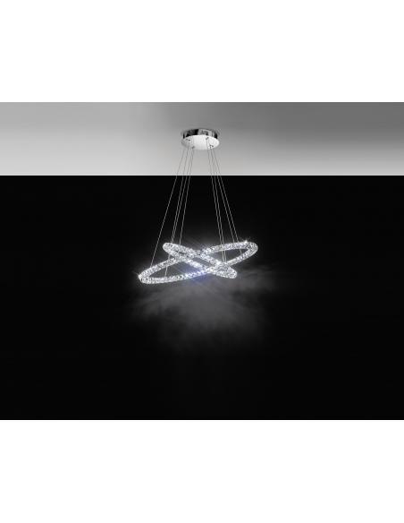 EGLO 93946 - TONERIA Lámpara colgante en Acero inoxidable y Cristal