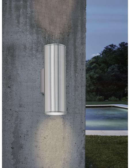 EGLO 94107 - RIGA Lámpara de pared en Acero inoxidable