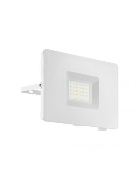 EGLO 33155 - FAEDO 3 Aplique de exterior LED en Aluminio blanco y Vidrio