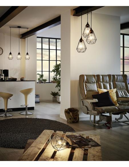 EGLO 94192 - TARBES Lámpara de mesa en Acero y Acero