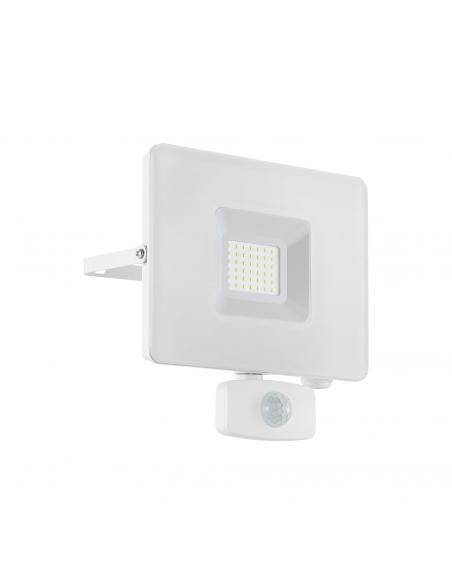 EGLO 33158 - FAEDO 3 Aplique de exterior con sensor de movimiento en Aluminio blanco y Vidrio
