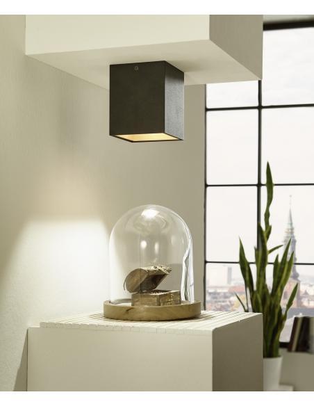 EGLO 94497 - POLASSO Lámpara de techo en Aluminio, acrílico