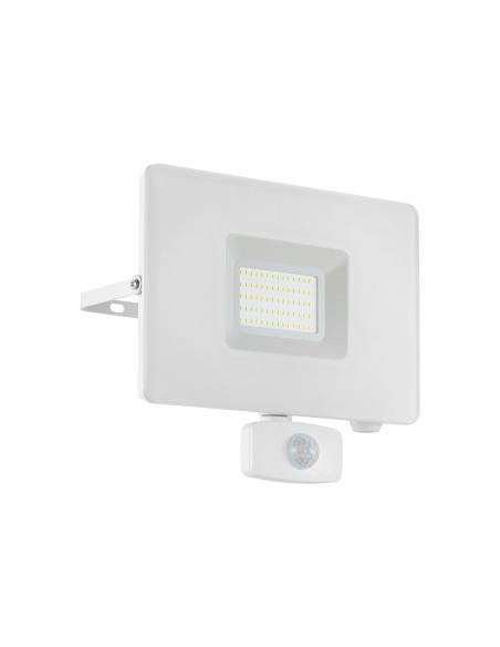 EGLO 33159 - FAEDO 3 Aplique de exterior con sensor de movimiento en Aluminio blanco y Vidrio