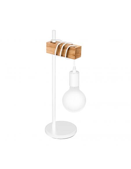 EGLO 33163 - TOWNSHEND Lámpara de Salón en Acero blanco y Madera