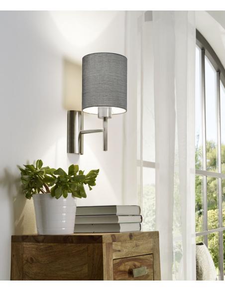 EGLO 94926 - PASTERI Lámpara de pared en Acero y Textil