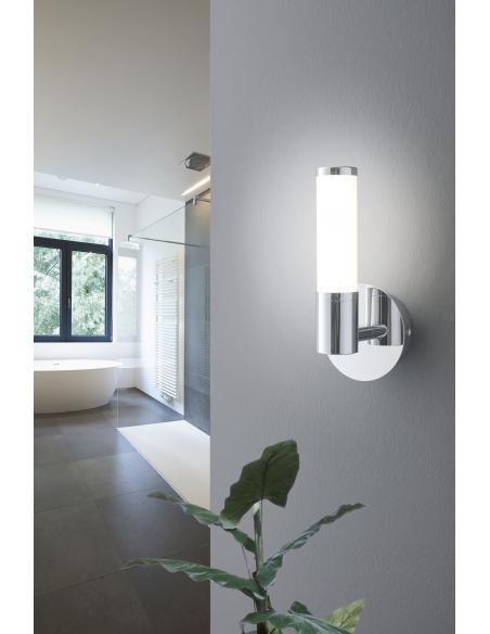 EGLO 95141 - PALMERA 1 Lámpara de pared en Acero y Vidrio opalino mate