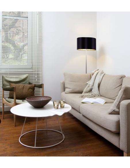 EGLO 95169 - MASERLO Lámpara de pie en Acero y Textil
