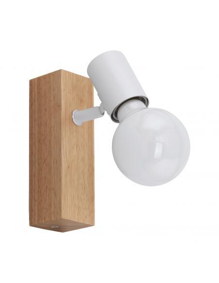 EGLO 33168 - TOWNSHEND 3 Foco LED en Madera, acero marrón, blanco