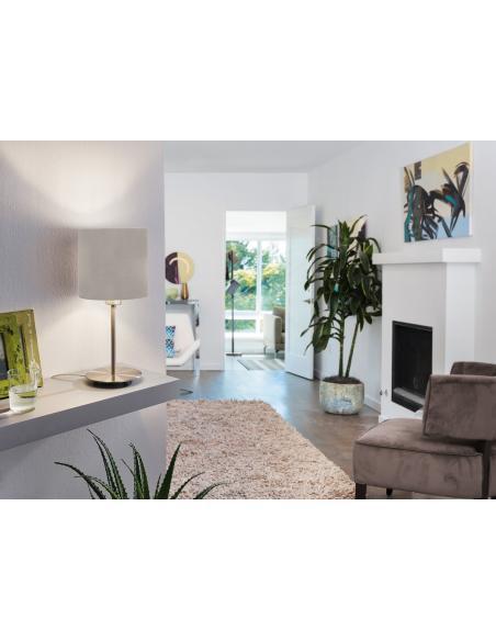 EGLO 95726 - PASTERI Lámpara de mesa en Acero y Textil