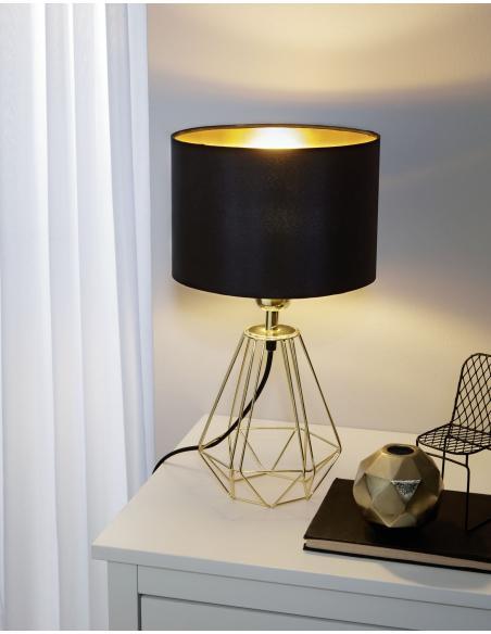 EGLO 95788 - CARLTON 2 Lámpara de mesa en Acero y Textil