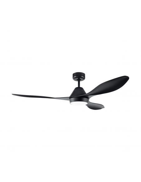 EGLO 35017 - ANTIBES Ventilador de techo con luz y mando en Acero negro-mate y Acrílico