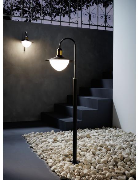 EGLO 97287 - SIRMIONE Lámpara de pie en Acero galvanizado y Vidrio opalino mate