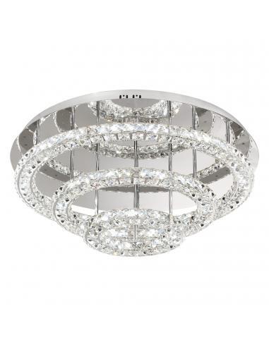 EGLO 39002 - TONERIA Plafón LED en Acero inoxidable cromo y Cristal