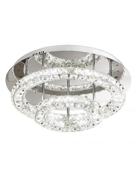EGLO 39003 - TONERIA Plafón LED en Acero inoxidable cromo y Cristal