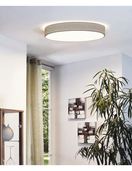 EGLO 97621 - PASTERI Lámpara de techo en Acero y Textil