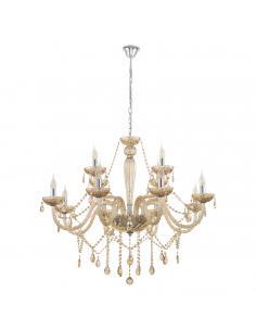 EGLO 39094 - BASILANO Lámpara colgante de Cristal en Acero cromo y Vidrio