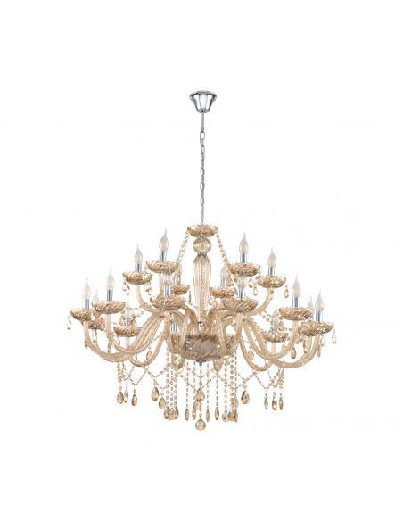 EGLO 39095 - BASILANO Lámpara colgante de Cristal en Acero cromo y Vidrio
